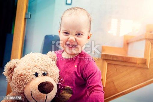 678589610 istock photo Happy child girl 1211985578