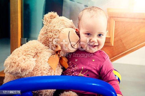 678589610 istock photo Happy child girl 1211992275