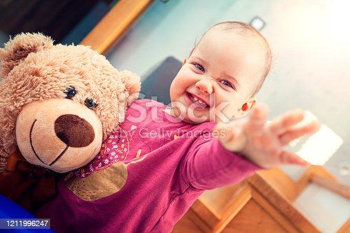 678589610 istock photo Happy child girl 1211996247