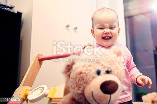 678589610 istock photo Happy child girl 1212138792