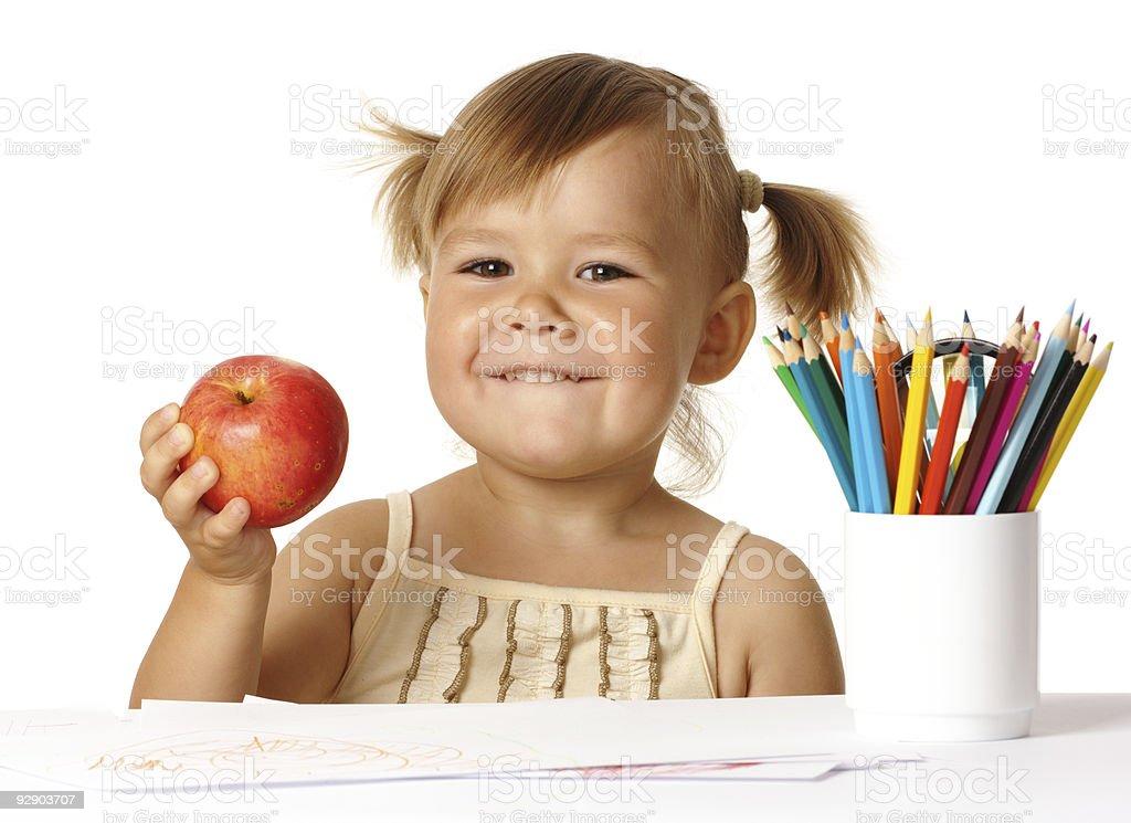 Happy child in preschool royalty-free stock photo