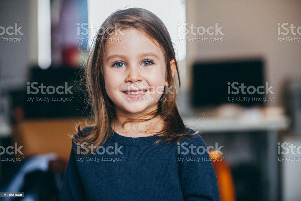 Glückliches Kind, Porträt – Foto