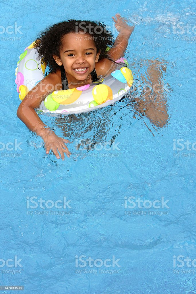 Happy Child Swimming stock photo