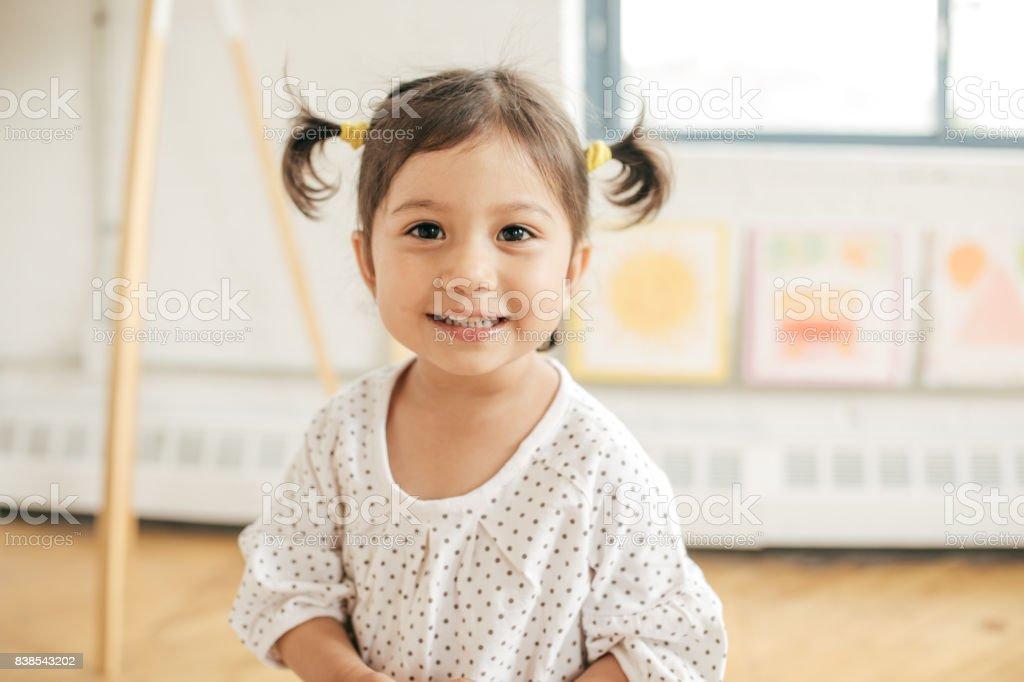Happy childhood 2 years old girl 2-3 Years Stock Photo