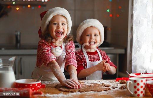 istock happy children bake christmas cookies 868227510