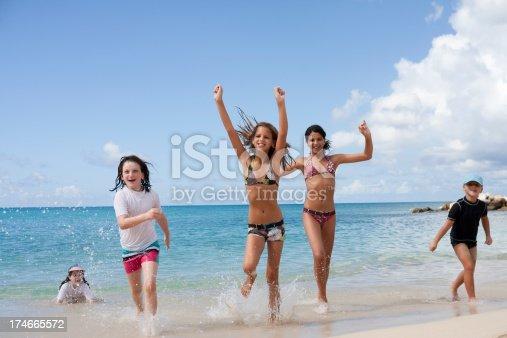 istock happy children on the beach 174665572