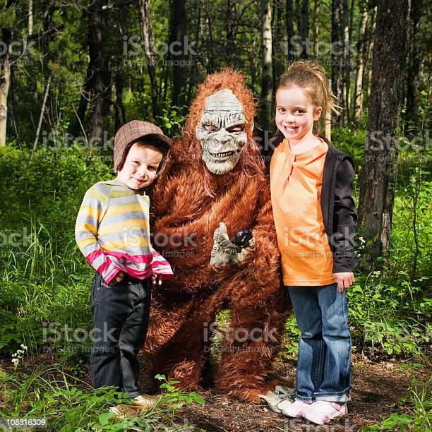 Happy children together with sasquatch in the woods picture id108316309?b=1&k=6&m=108316309&s=612x612&h=j1sequ pmkeinp1n3nrwdtb2cp4udjy g  ymxnesxo=