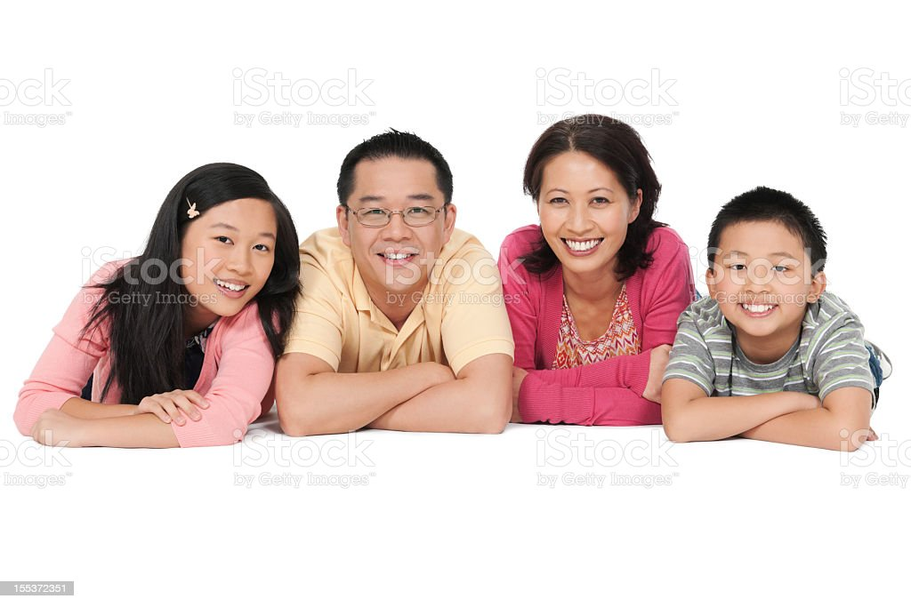 Happy Chinese Family royalty-free stock photo