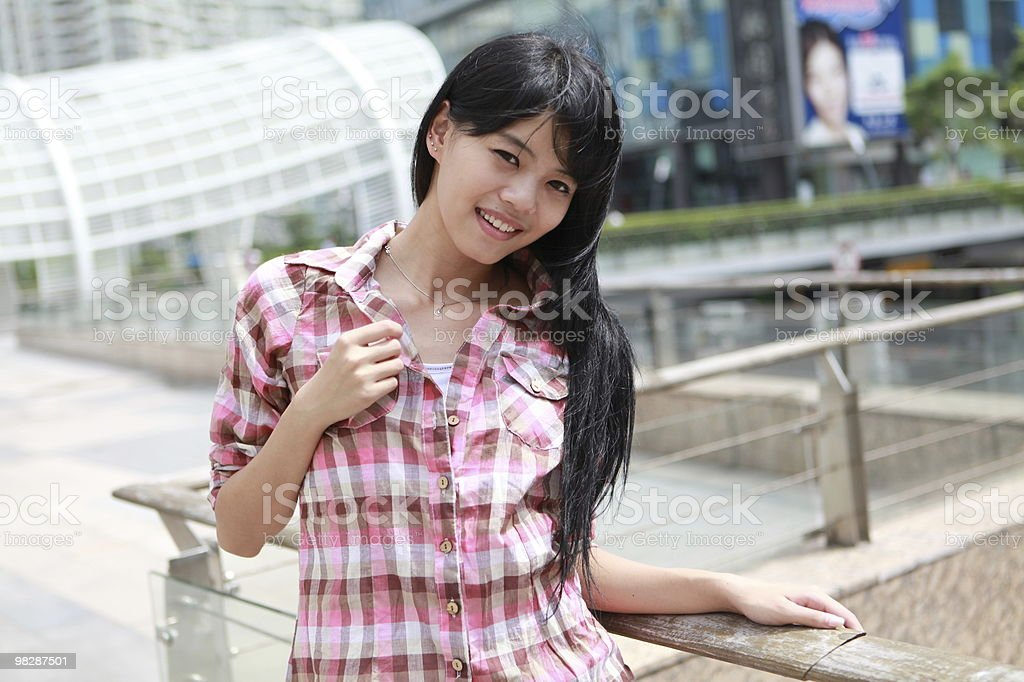 Happy Chinese girl royalty-free stock photo