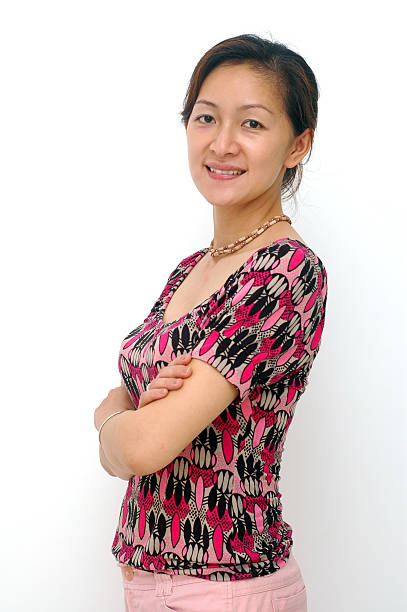 Happy Chinese Lady stock photo