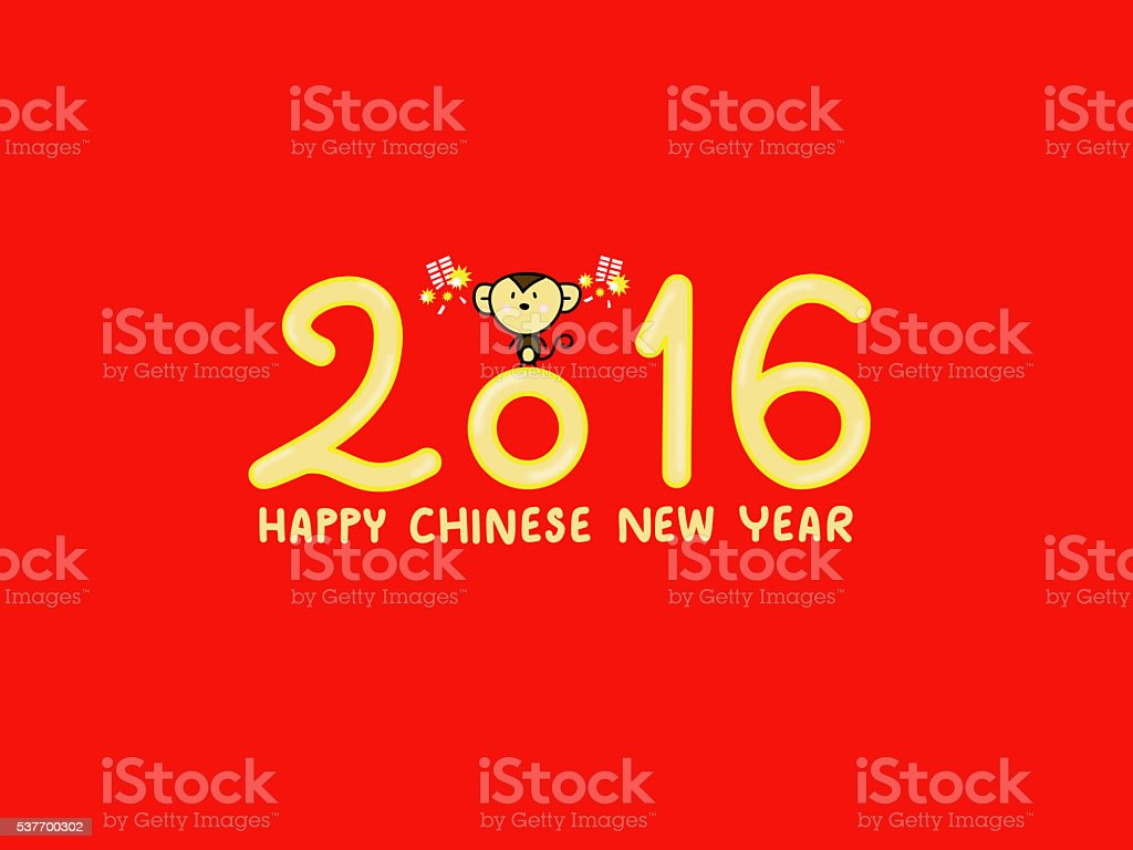 Happy Chinese New Year 2016 Hands Drawing Stock Photo Download