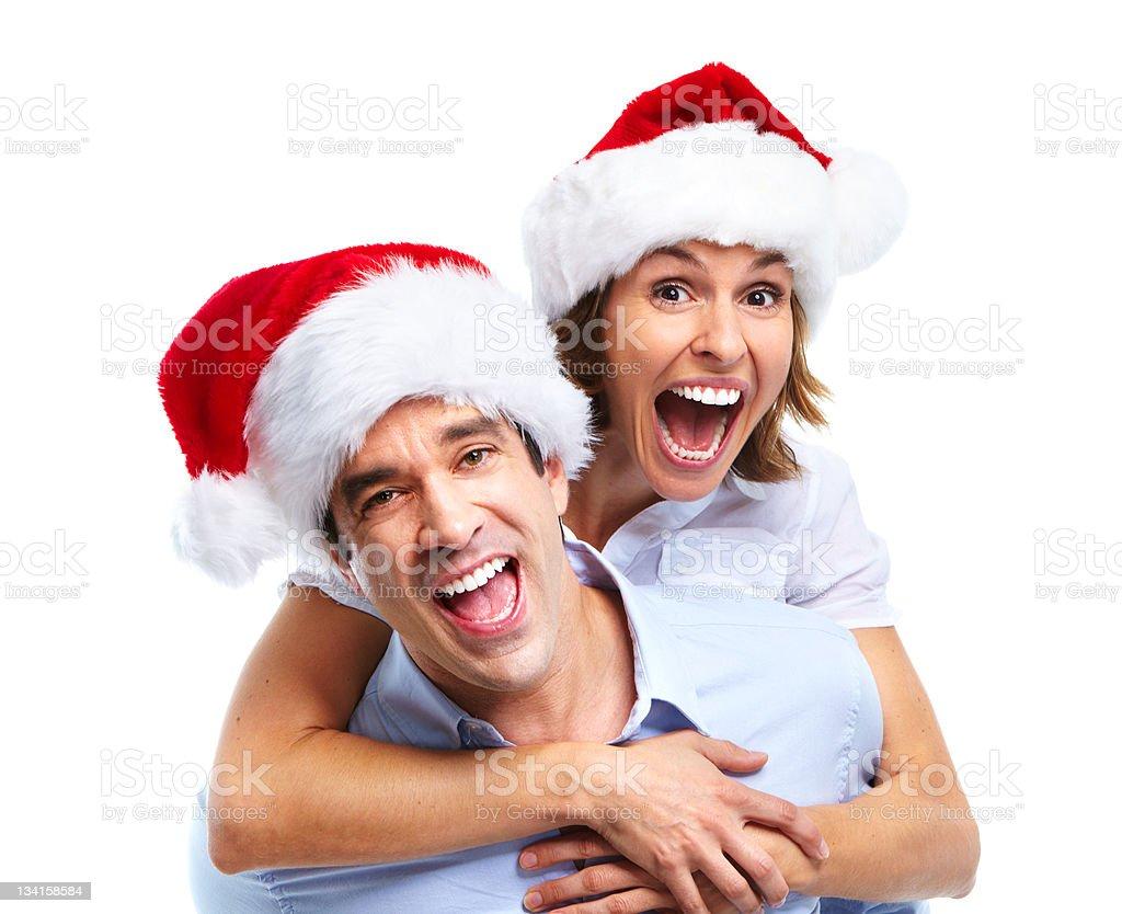 Happy Weihnachten Paar – Foto