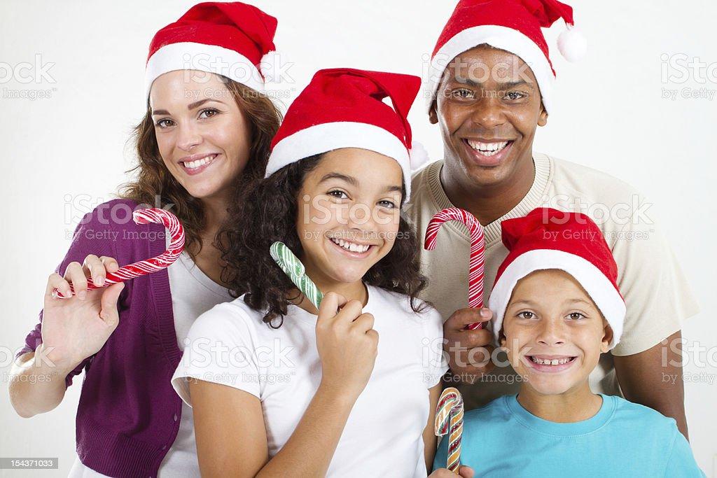 happy Christmas family royalty-free stock photo