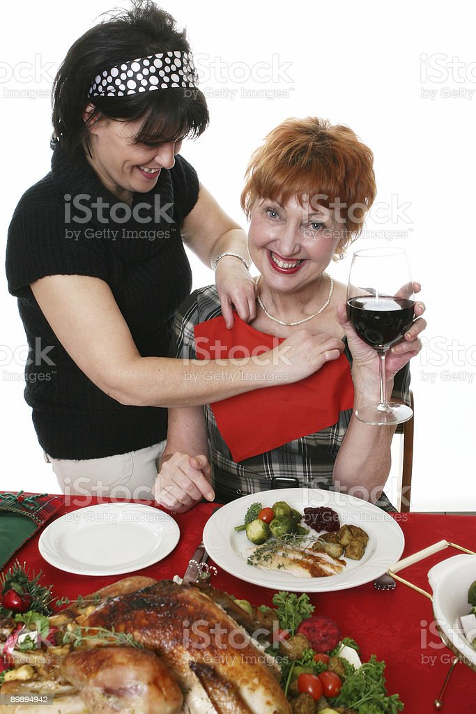 Happy Christmas meal royalty-free stock photo