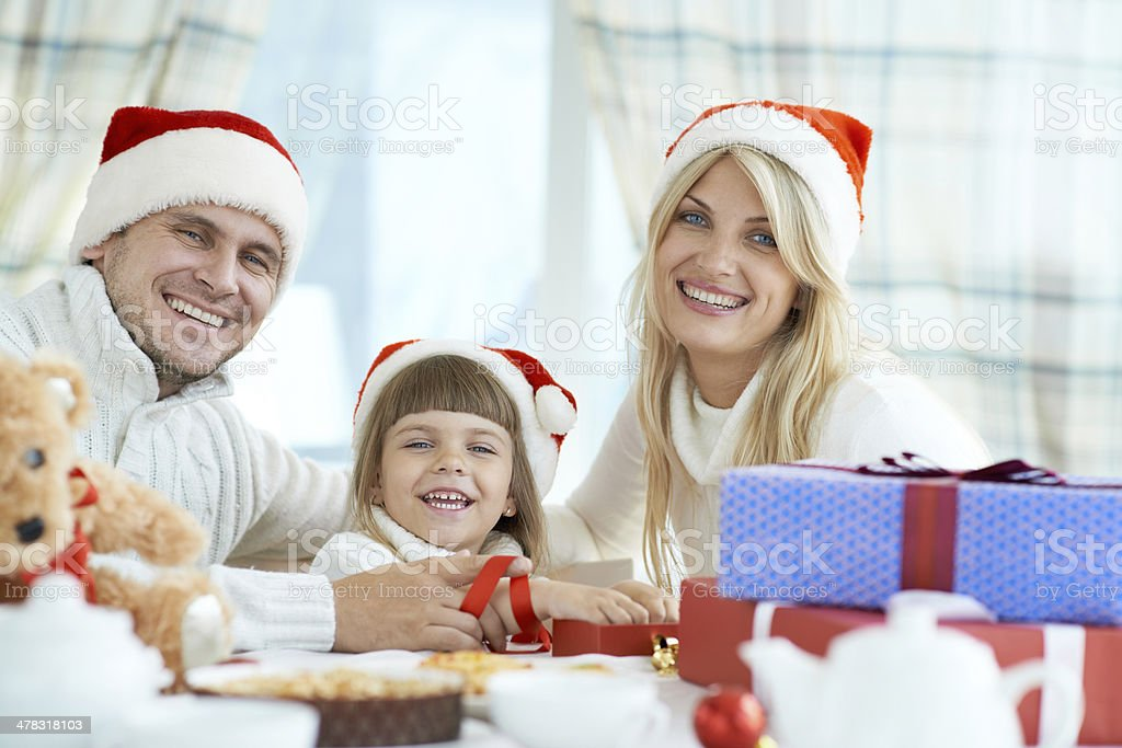 Happy Christmas together royalty-free stock photo