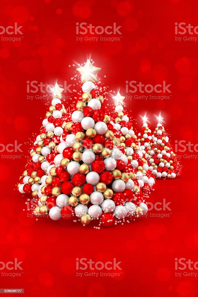 happy christmas tree decoration white red gold balls royalty free stock photo