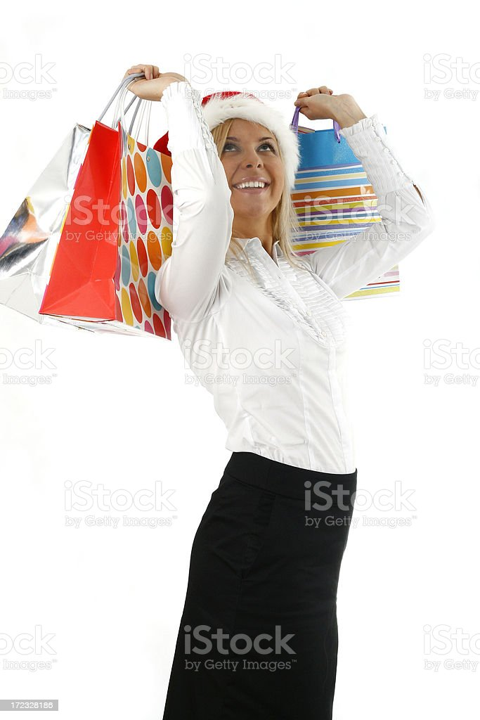 Happy Christmas woman royalty-free stock photo