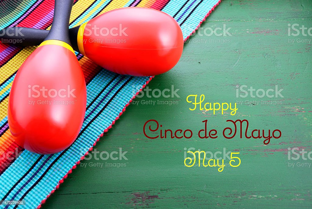 Happy Cinco de Mayo background stock photo