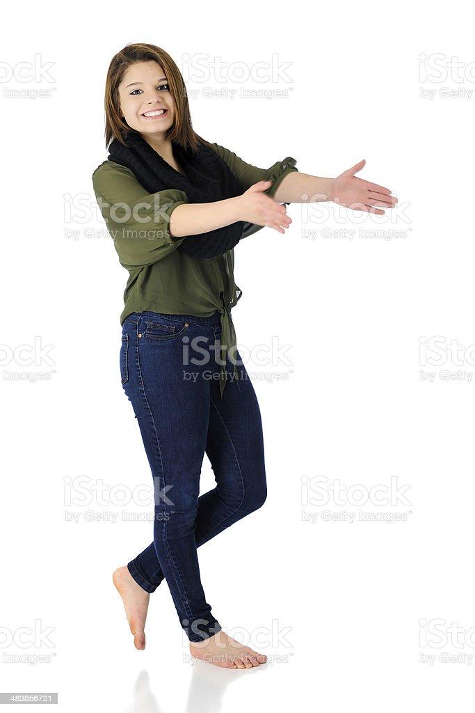 Счастливый Хлопать в ладоши и танцы стоковое фото