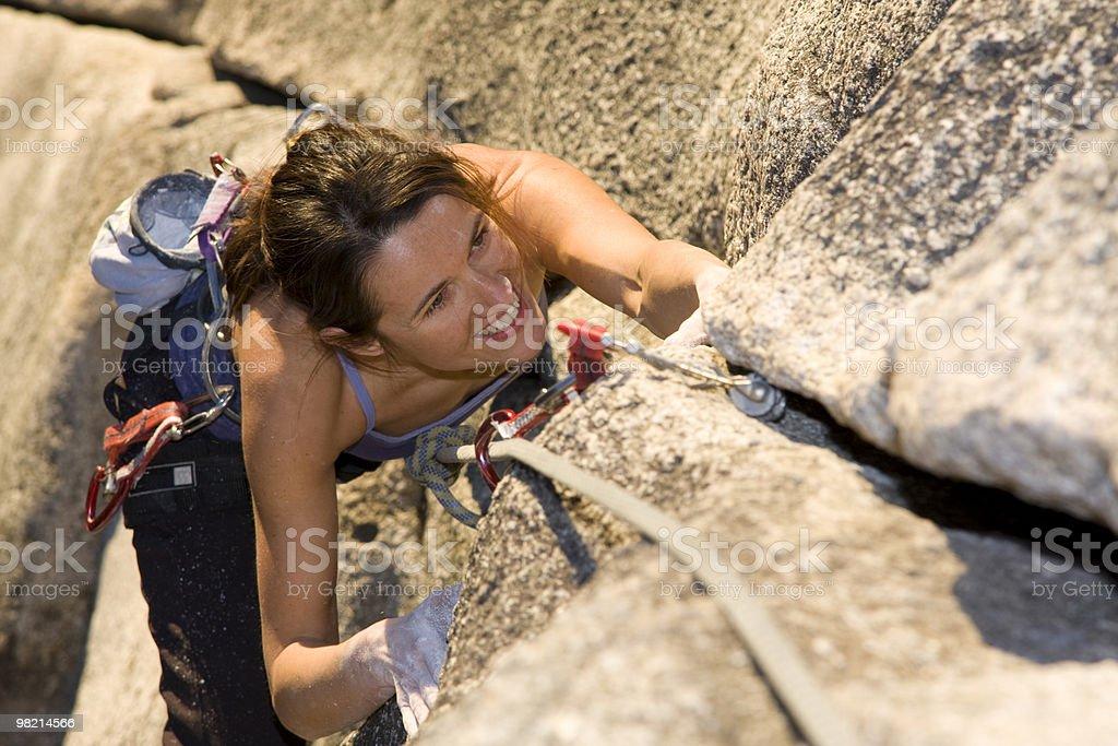 Happy Climbing royalty-free stock photo