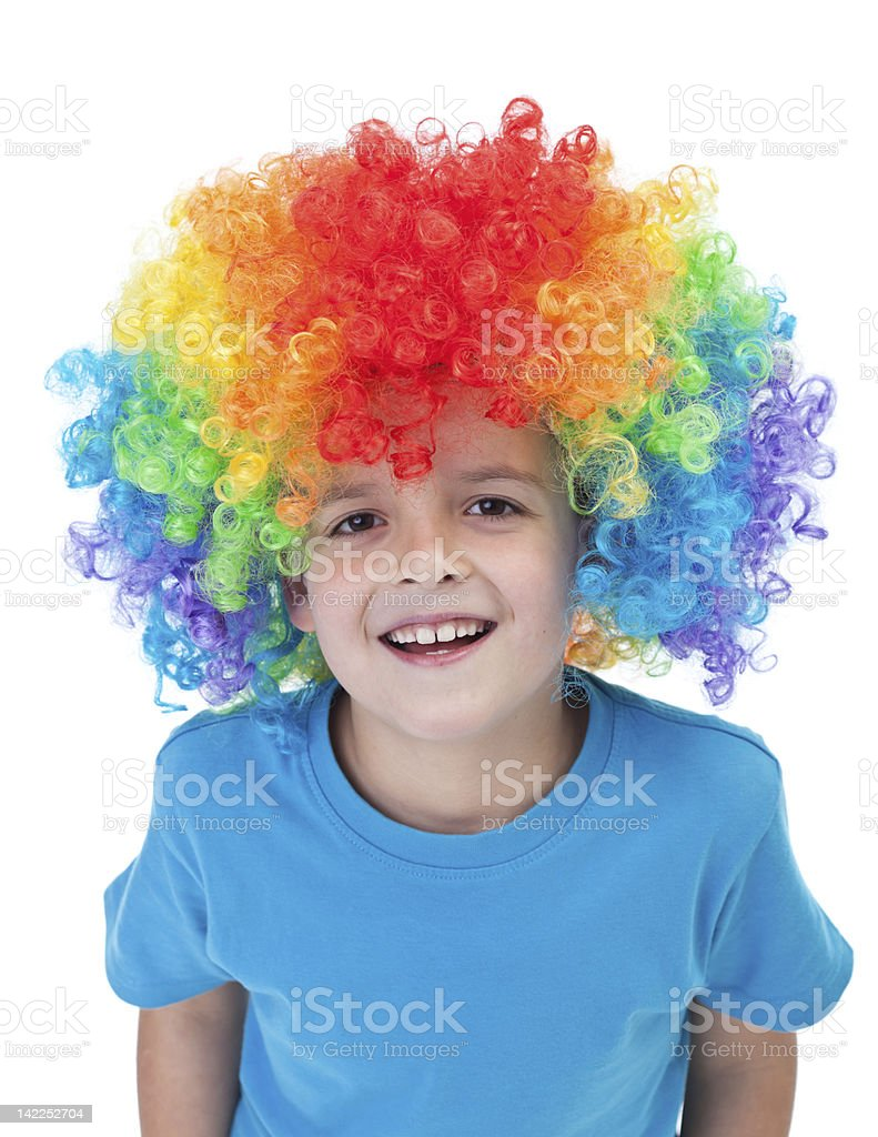 Happy clown junge-isoliert Porträt – Foto