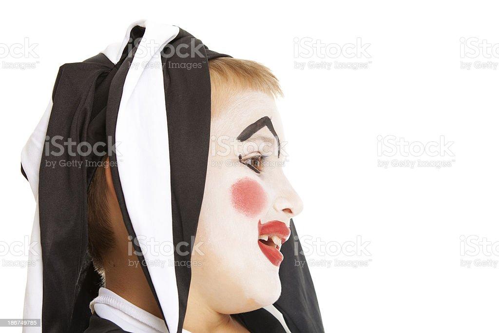 Happy clown royalty-free stock photo