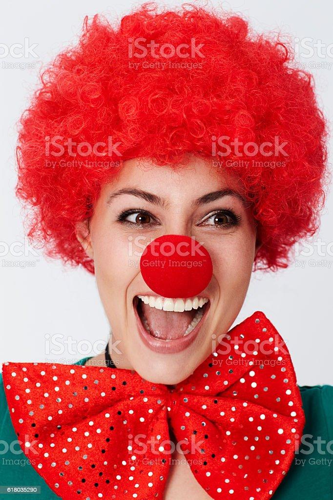Happy clown stock photo