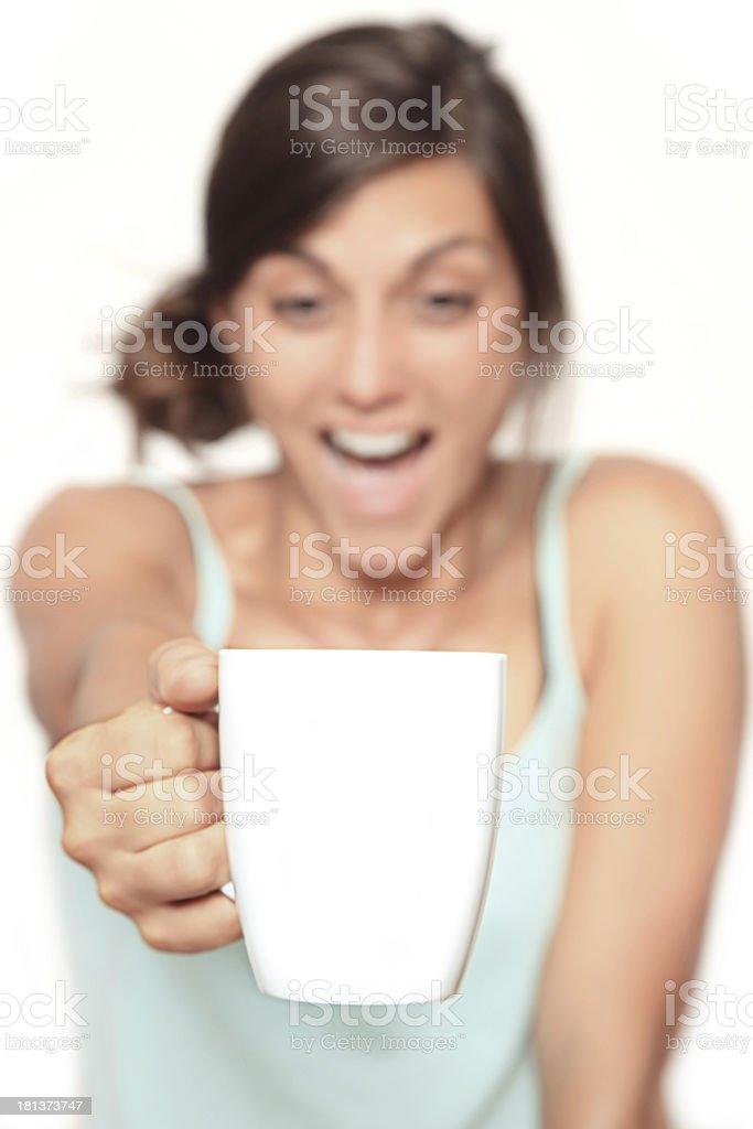 happy coffee royalty-free stock photo