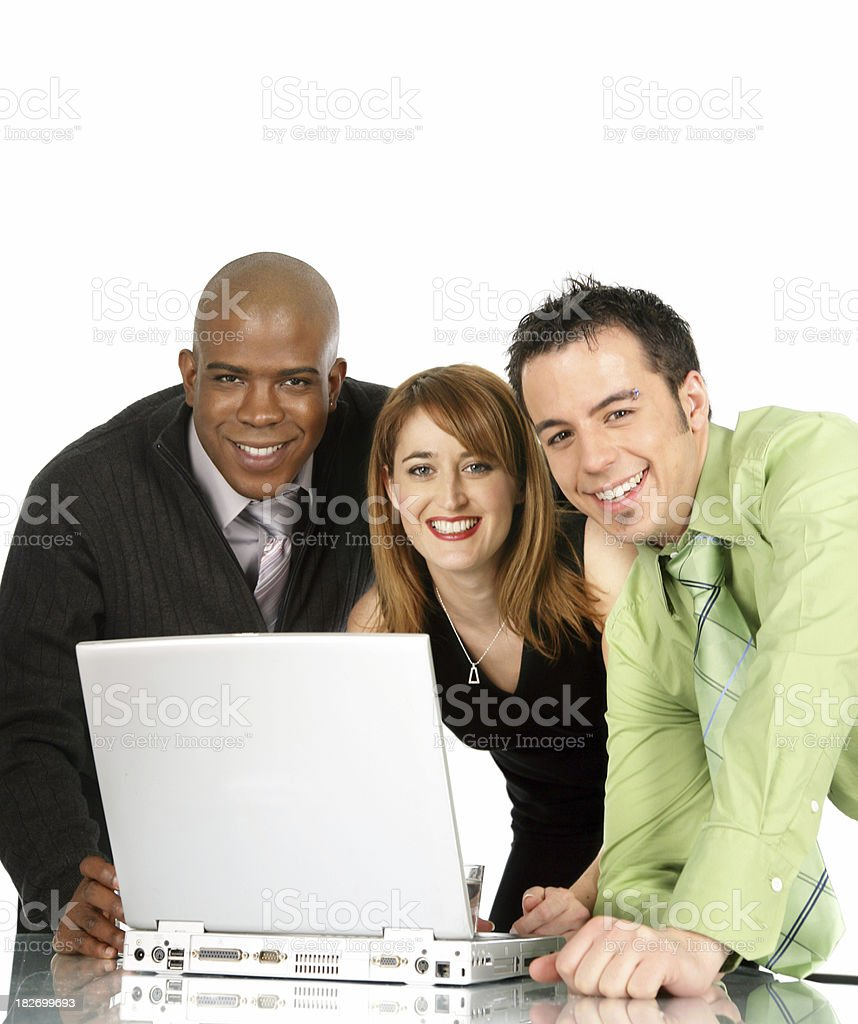 Happy colleagues royalty-free stock photo