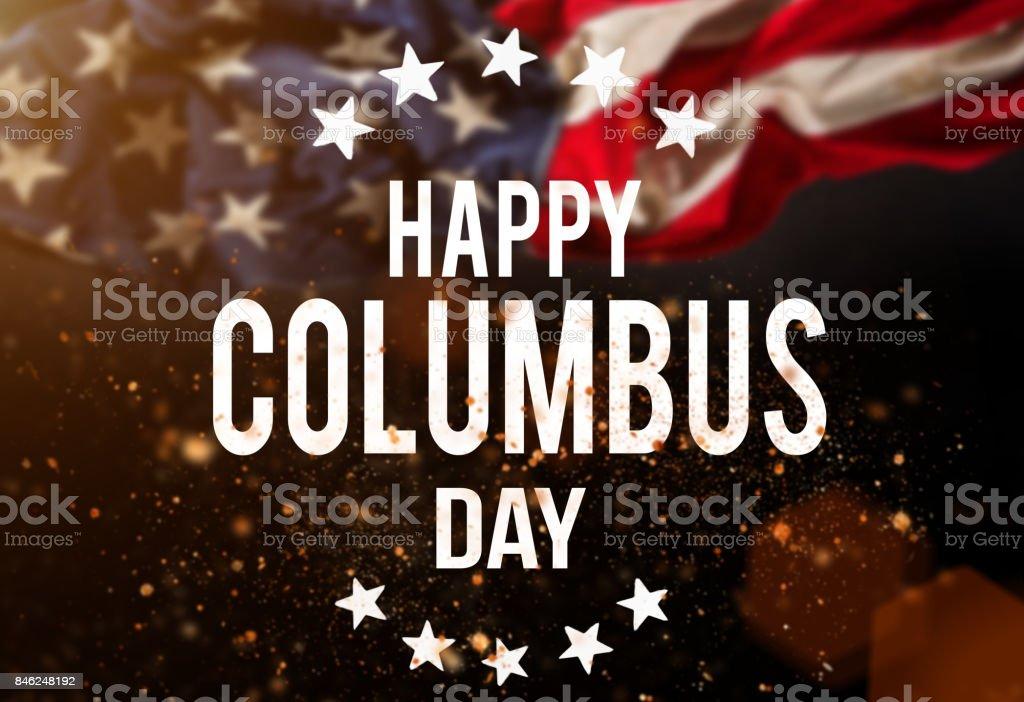Glücklich Columbus Tag Banner Patriotischen Hintergrund - Stockfoto ...