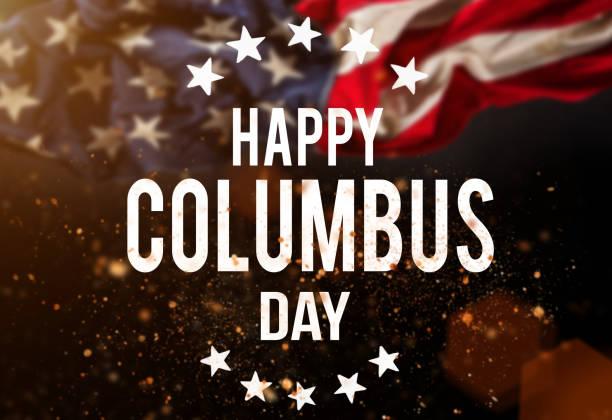 happy columbus day banner, patriotic background - columbus day zdjęcia i obrazy z banku zdjęć