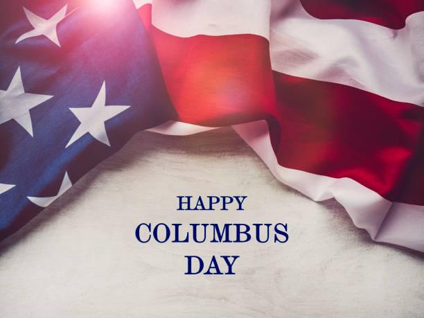 해피 콜럼버스의 날. 아름다운 인사말 카드. 클로즈업 - columbus day 뉴스 사진 이미지