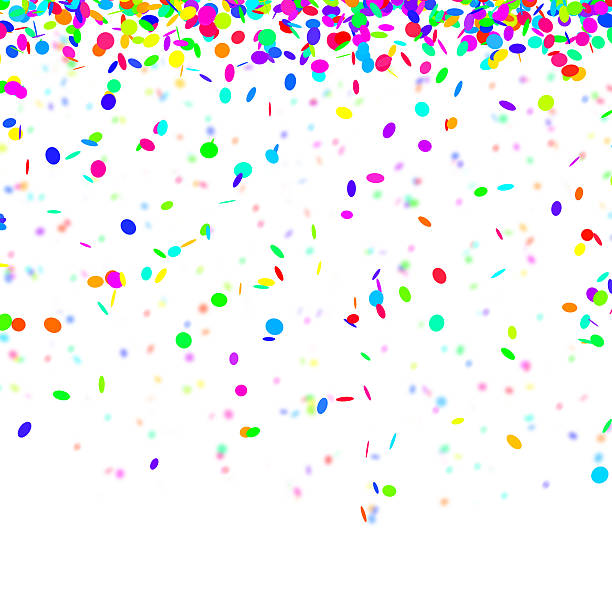 Happy confetti background – Foto
