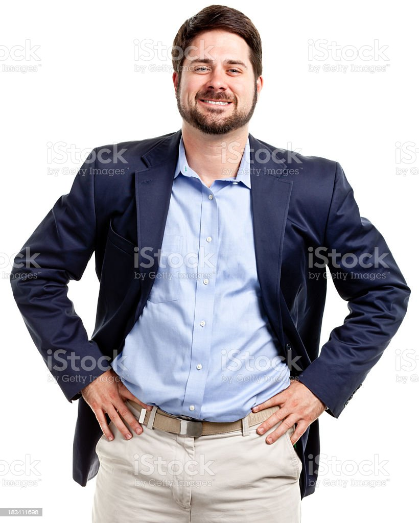 Happy Confident Casual Businessman royalty-free stock photo