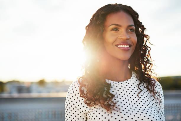 happy confident young woman - kvinna ansikte glow bildbanksfoton och bilder