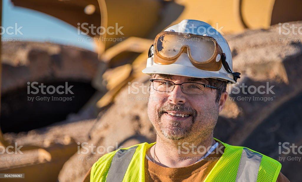 Happy Construction Foreman stock photo
