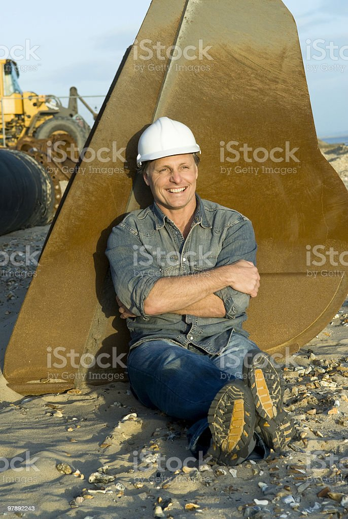 Happy construction worker royalty-free stock photo