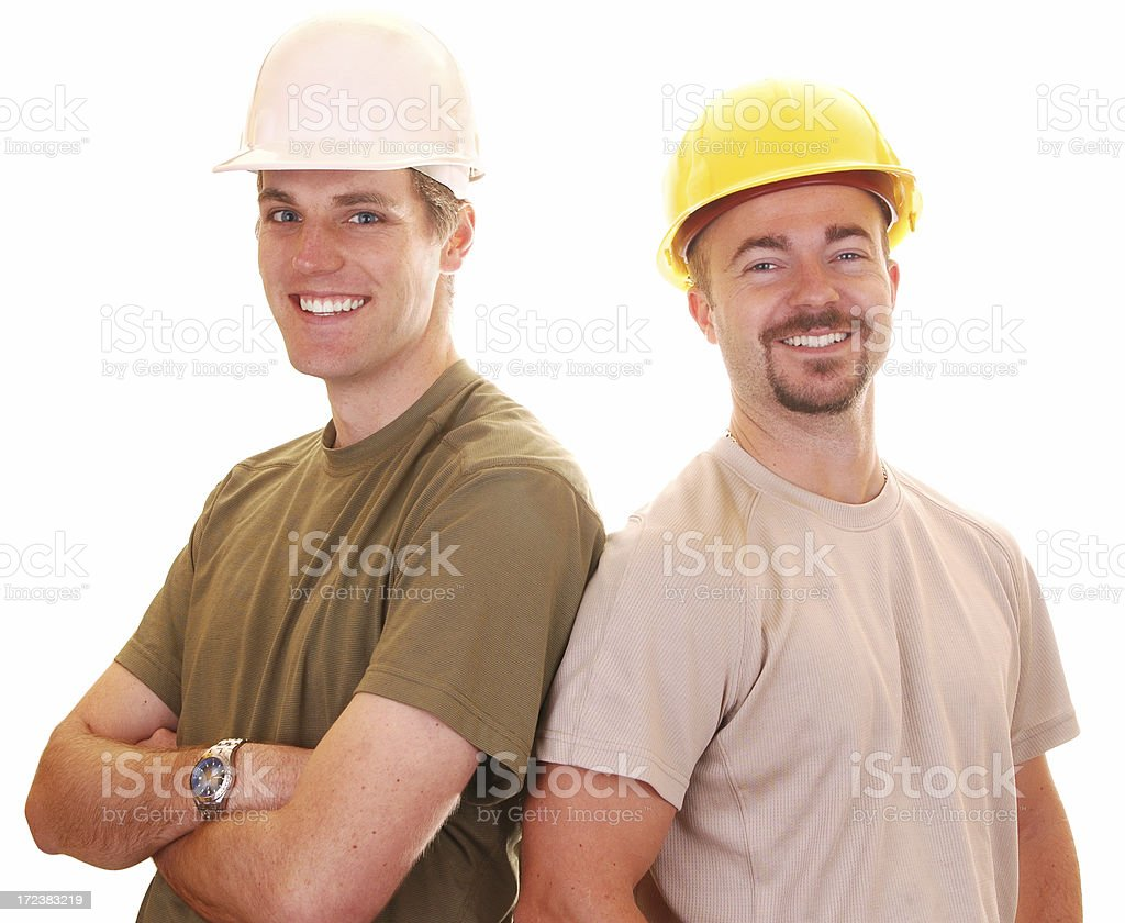 Happy Construction Workers royalty-free stock photo