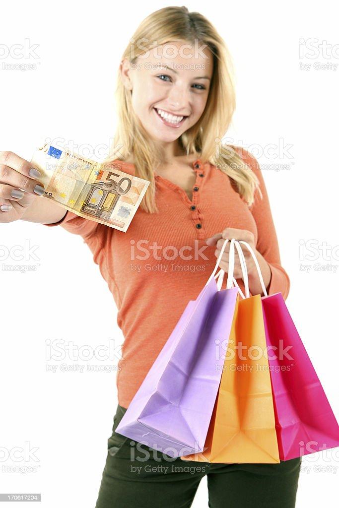 Happy consumer royalty-free stock photo