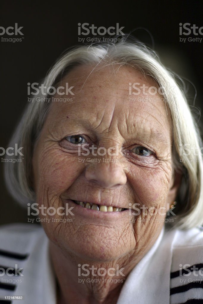 Happy, Content Senior royalty-free stock photo