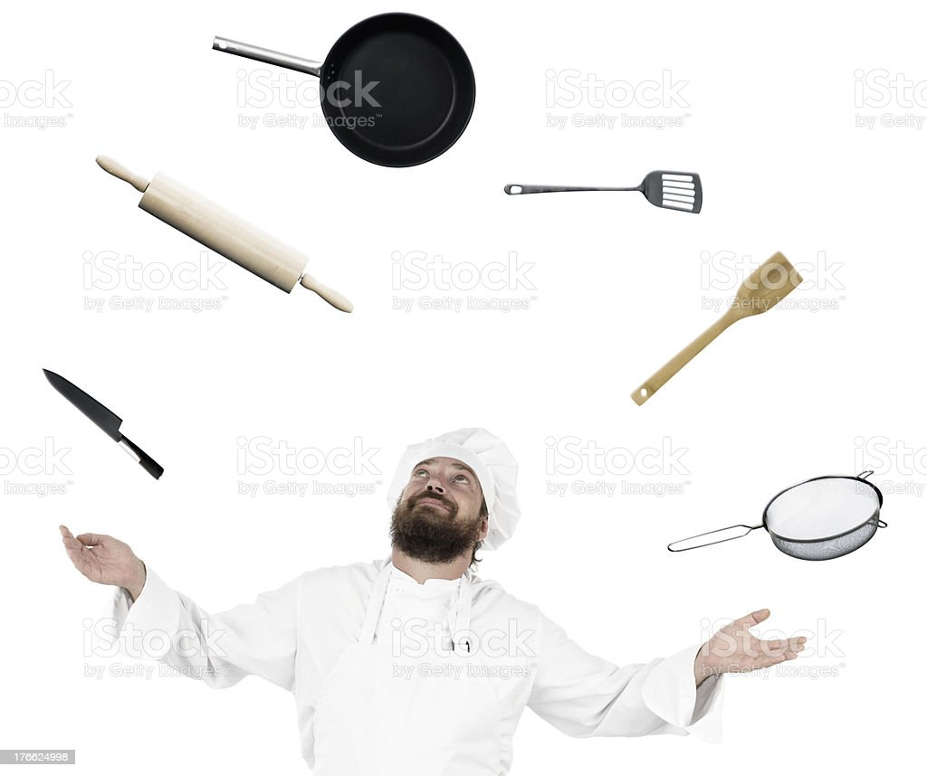 Happy cooking royalty-free stock photo
