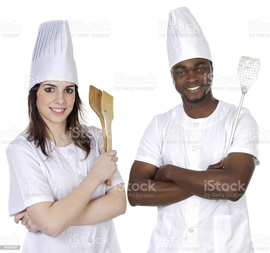 Happy cooks Team royalty-free stock photo