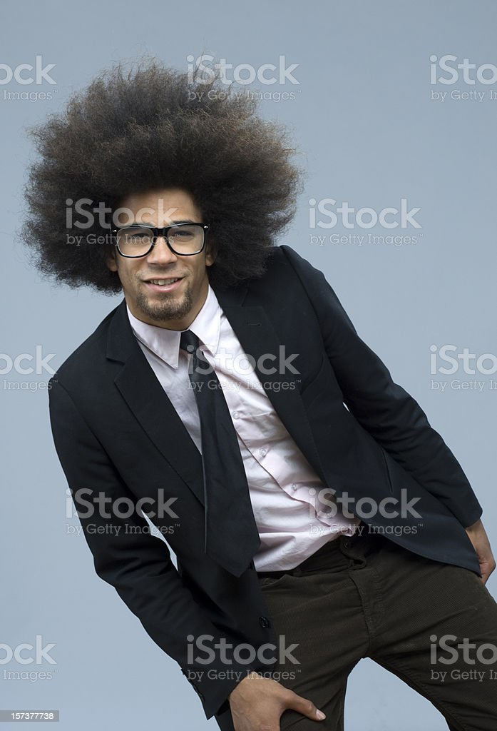 happy cool funky businessman stock photo