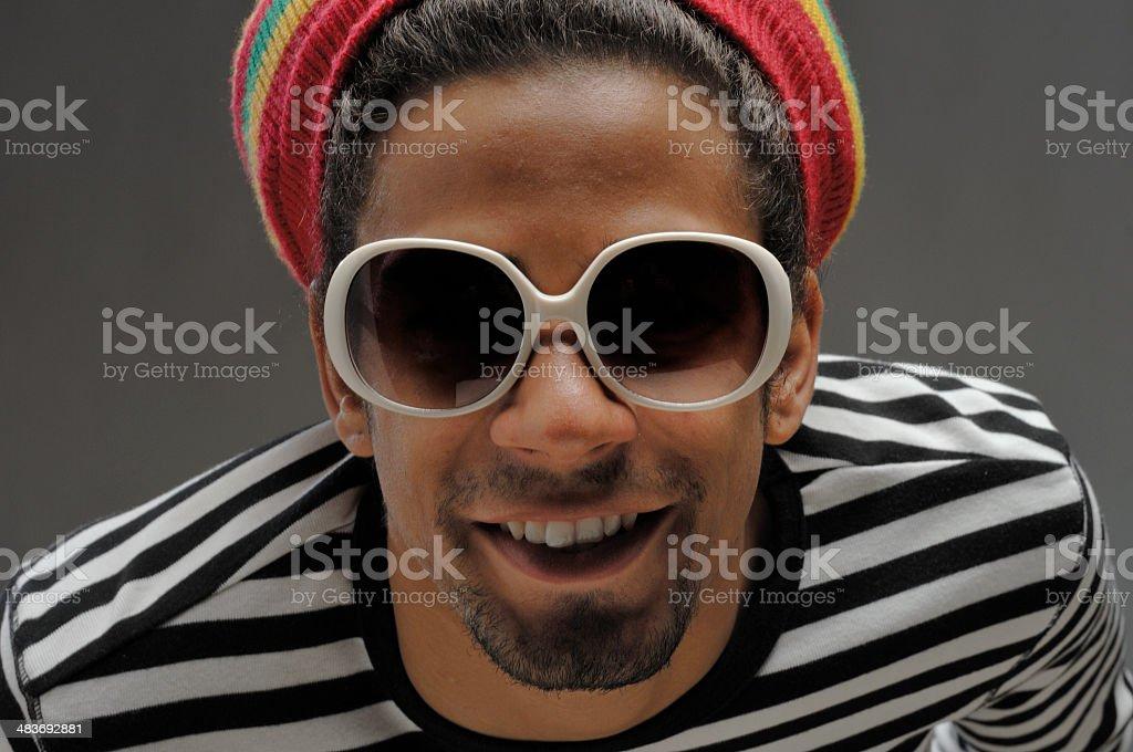 happy cool funky man stock photo