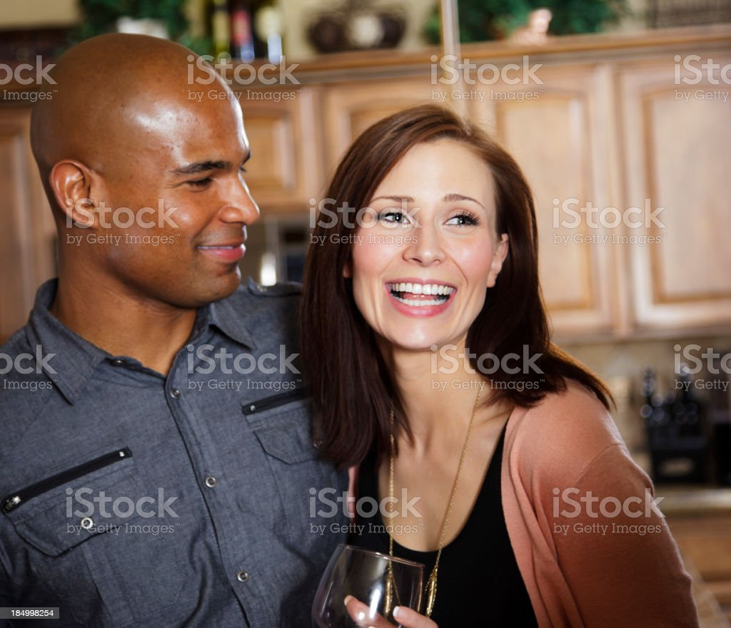 Happy Couple at a Party stock photo