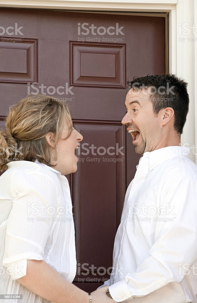Happy Couple Buying a New Home royalty-free stock photo