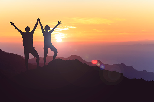 istock Happy couple celebrate, reaching life goal and success 1038038542
