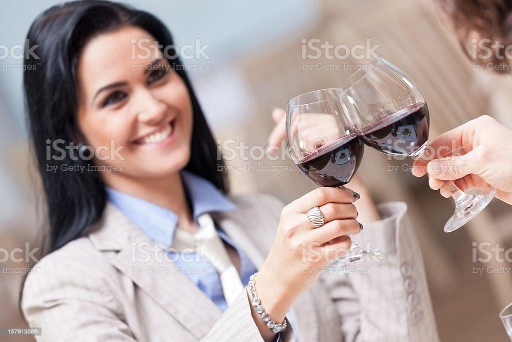 Happy couple celebrating royalty-free stock photo