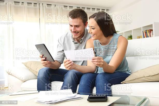 Happy couple checking bank account online picture id623211758?b=1&k=6&m=623211758&s=612x612&h=4x5unwle4bmiss7kf5sc57qsmzjrozhd gluwdwmneq=