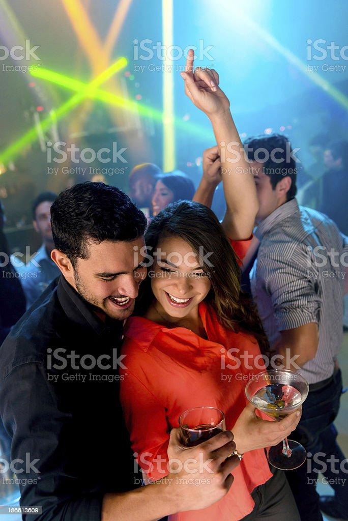 Happy couple dacing stock photo